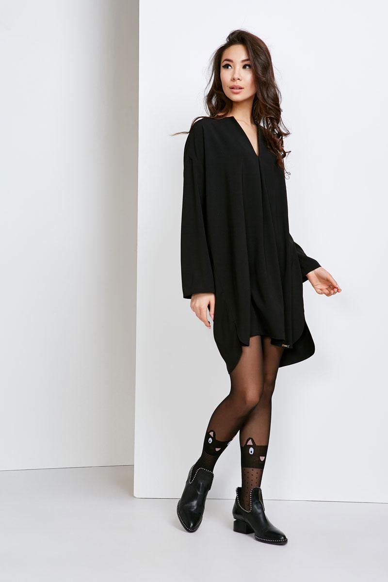 2136 платье Рэй, черный (48-50)
