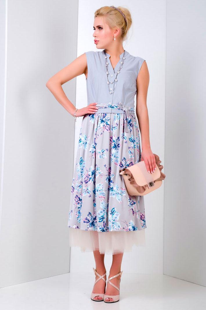 2044 платье Аликанте Ирис, серый (46)