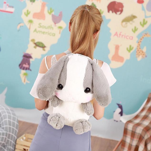 Дизайнерский рюкзак для девушки. Милый портфель в форме японского кролика