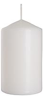 Декоративная свеча цилиндр BISPOL sw60/100-x белая (10 см)