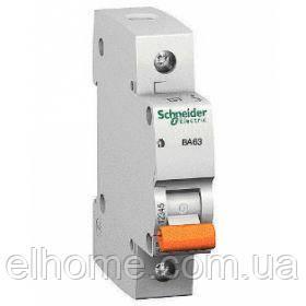 Автоматичний вимикач 1P ВА63 C-6A