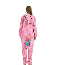 Пижама кигуруми единорог, розовый звездный, фото 3