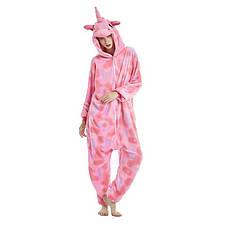 Пижама кигуруми единорог, розовый звездный, фото 2