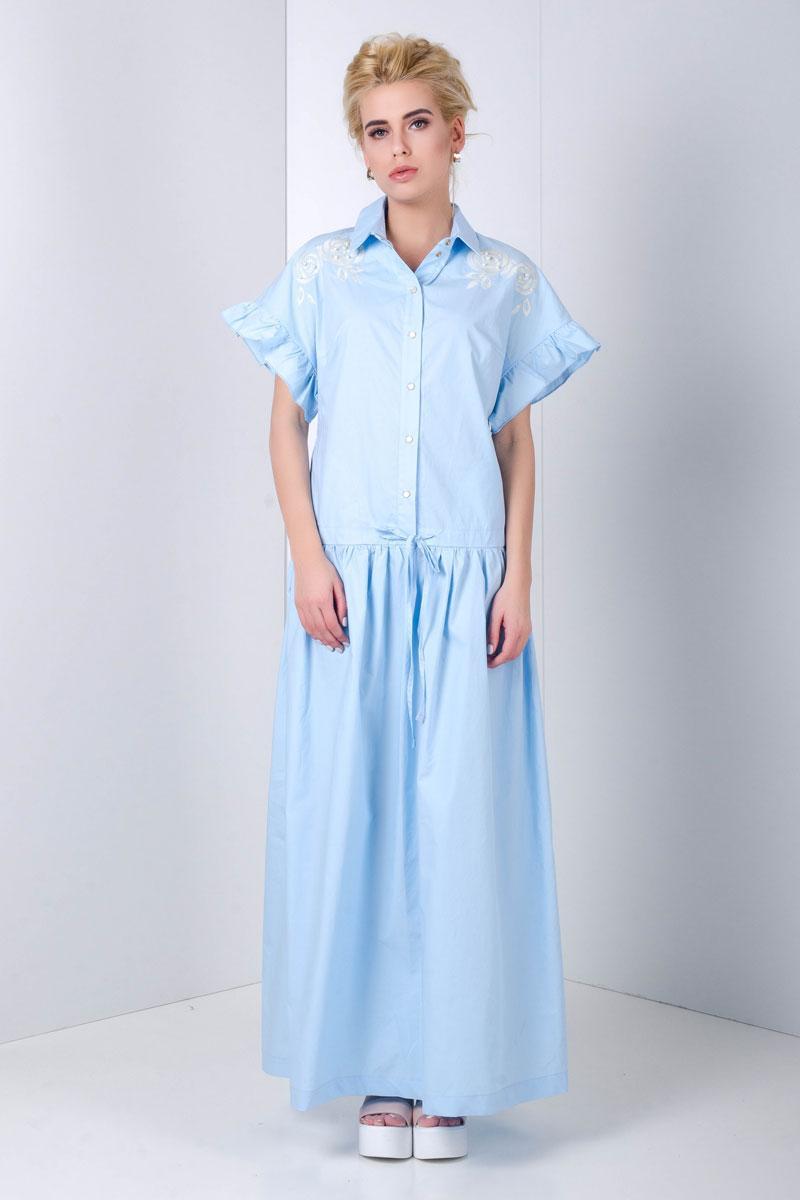 1999 платье Флорентина, голубой (46-48)