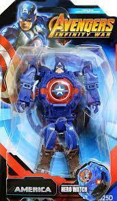Детские электронные часы-трансформер Капитан Америка