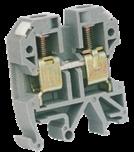 Клеммник JXB-4 серый (0,5-4ø), на DIN-рейку, 32 А, 65x42x52mm, CNC