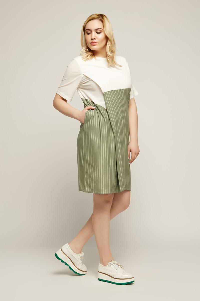 2161 платье Тегран, олива (40-42)