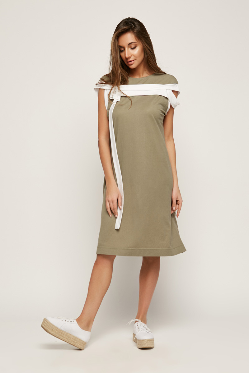 2162 платье Ресорт, олива (40-42)