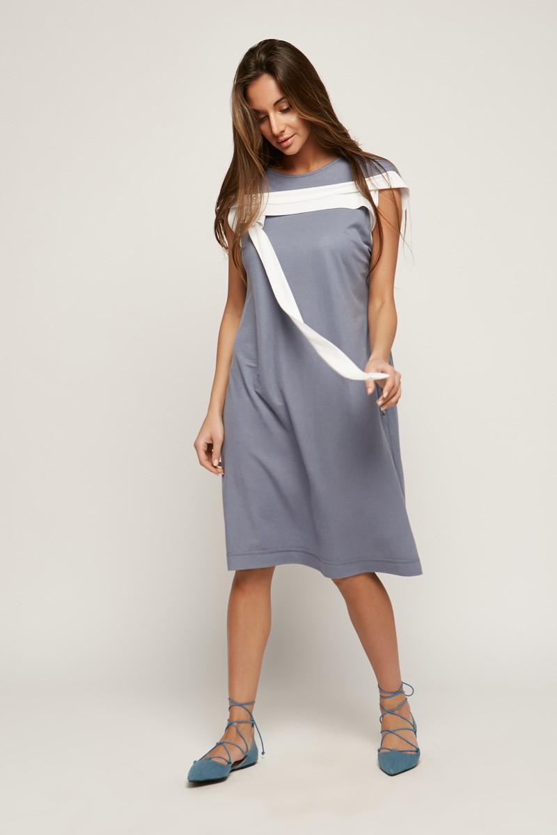2162 платье Ресорт, смальт (40-42)
