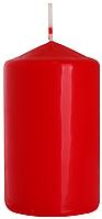 Декоративная свеча цилиндр BISPOL sw60/100-x красная (10 см)