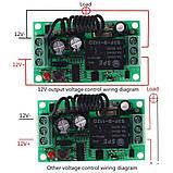Дистанционное радио реле 10A 12V радиоуправляемое на частоте 433 мГц + пульт, фото 3