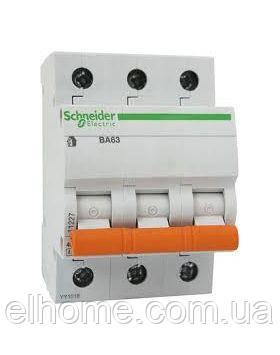 Автоматичний вимикач 3P ВА63 C-25A