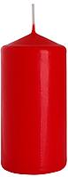 Декоративная свеча цилиндр BISPOL sw60/120-x красная(12 см)