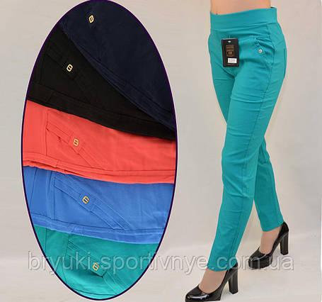 Штани жіночі літні у великих розмірах 2XL - 6XL, фото 2