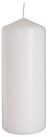 Декоративная свеча цилиндр BISPOL sw60/150-x белая (15 см)