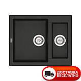 Кухонная мойка гранитная Vankor Orman OMP 03.61 Black 61*50, фото 2
