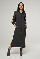 2243 платье - рубашка Таймс, антрацит (S)