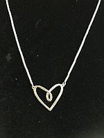 Подвеска Сердце покрытая серебром