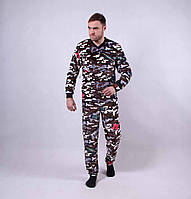 """Махровая мужская пижама """"army"""" р. 44-52"""