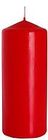 Декоративная свеча цилиндр BISPOL sw60/150-x красная(15 см)