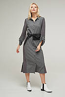 2243 платье - рубашка Таймс, светло-серый (S)