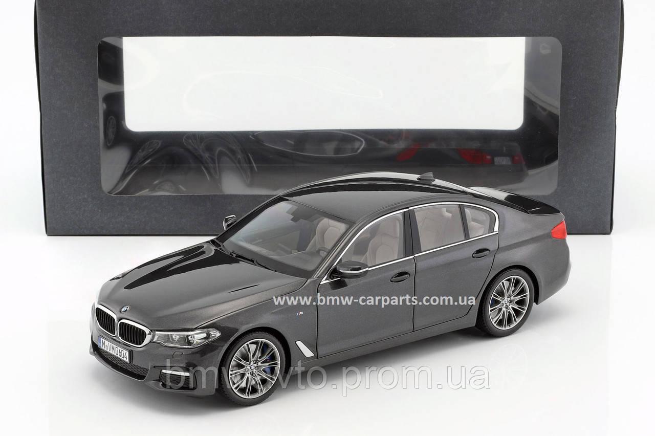 Модель автомобиля BMW 530i Limousine (G30), 1:18 Scale, Sophistogrey Metallic, фото 2