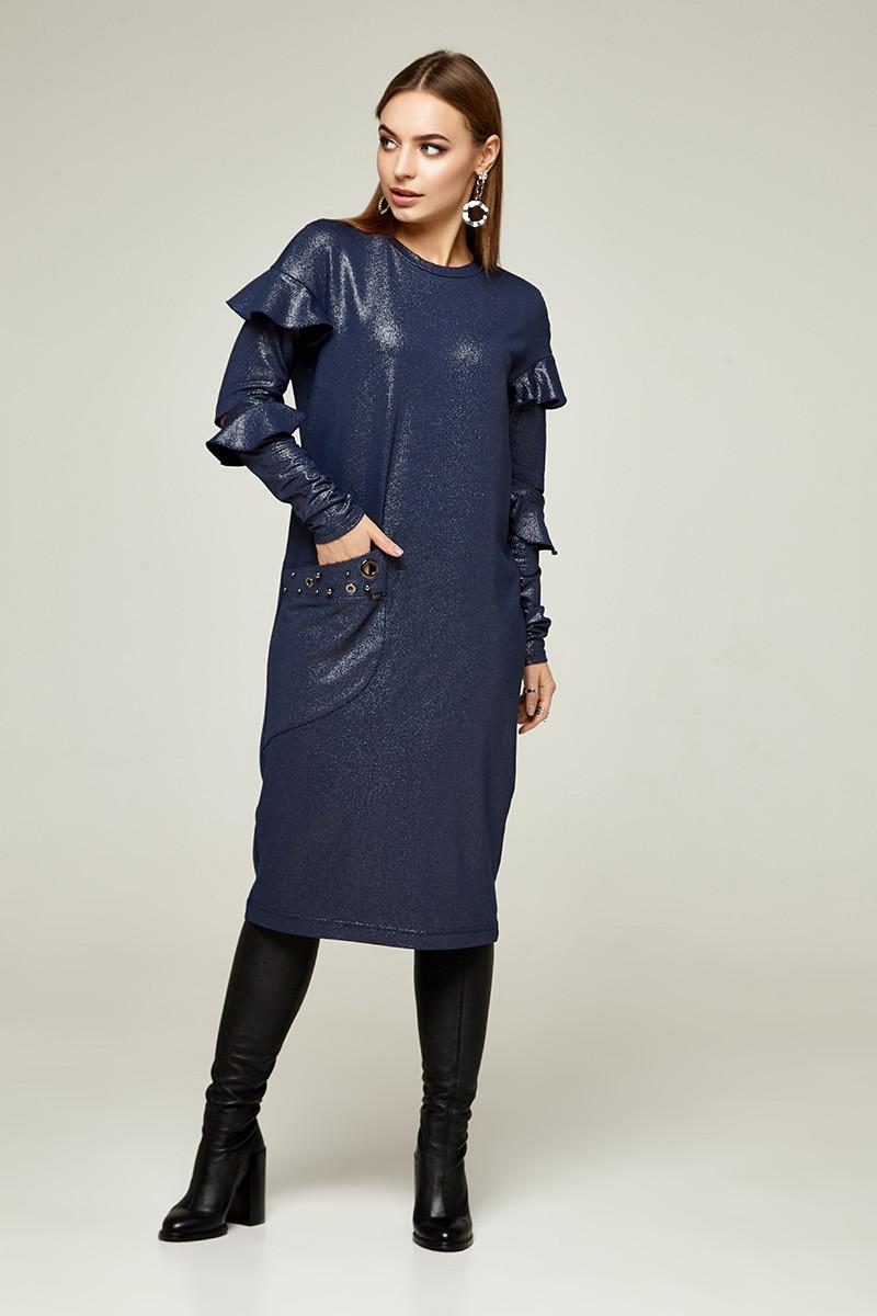 2263 платье Шана, синий блеск (S)