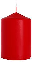 Декоративная свеча цилиндр sw70/100 красная BISPOL (10 см)