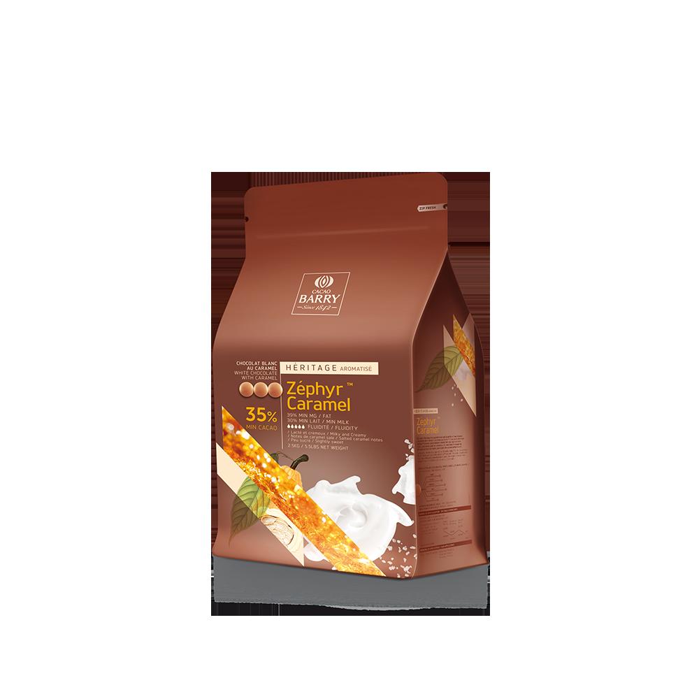 """Белый шоколад с карамелью """"ZEPHYR CARAMEL"""" 35 % какао 100 г ТМ """"Cacao Barry"""""""
