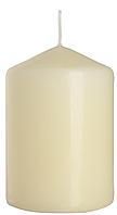 Декоративная свеча цилиндр sw70/100 кремовая BISPOL (10 см)