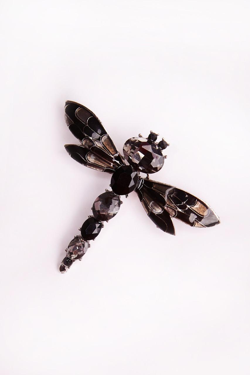 АП-425 брошь Стрекоза, черный (one size)