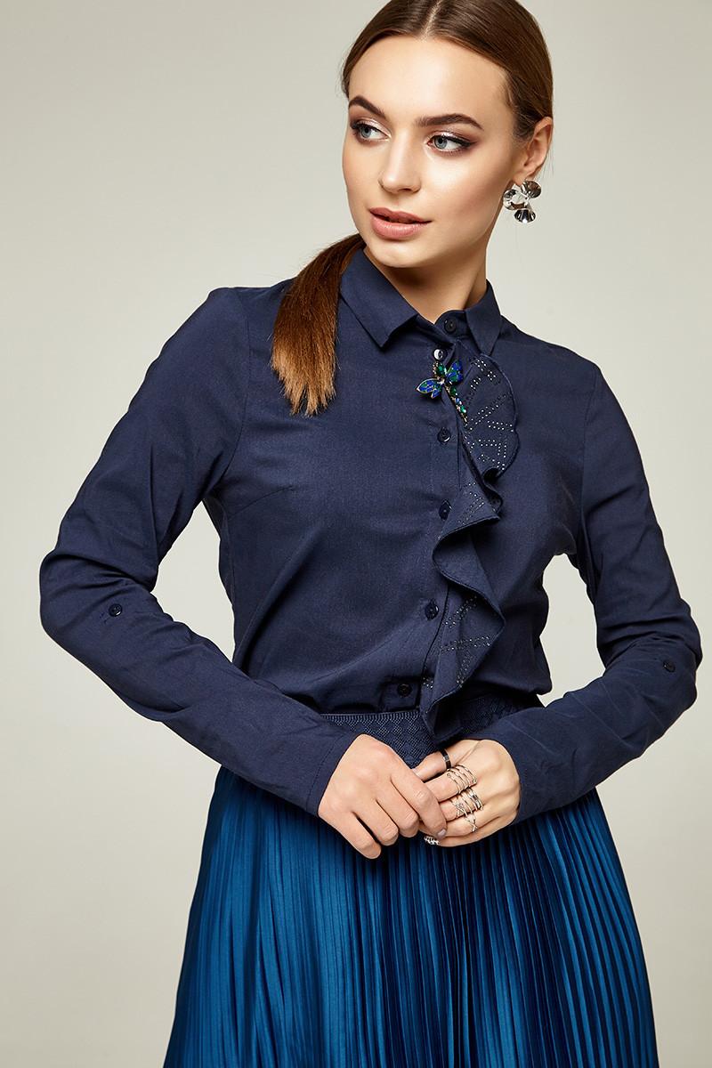 2278 блуза Лорет, темно-синий (46)