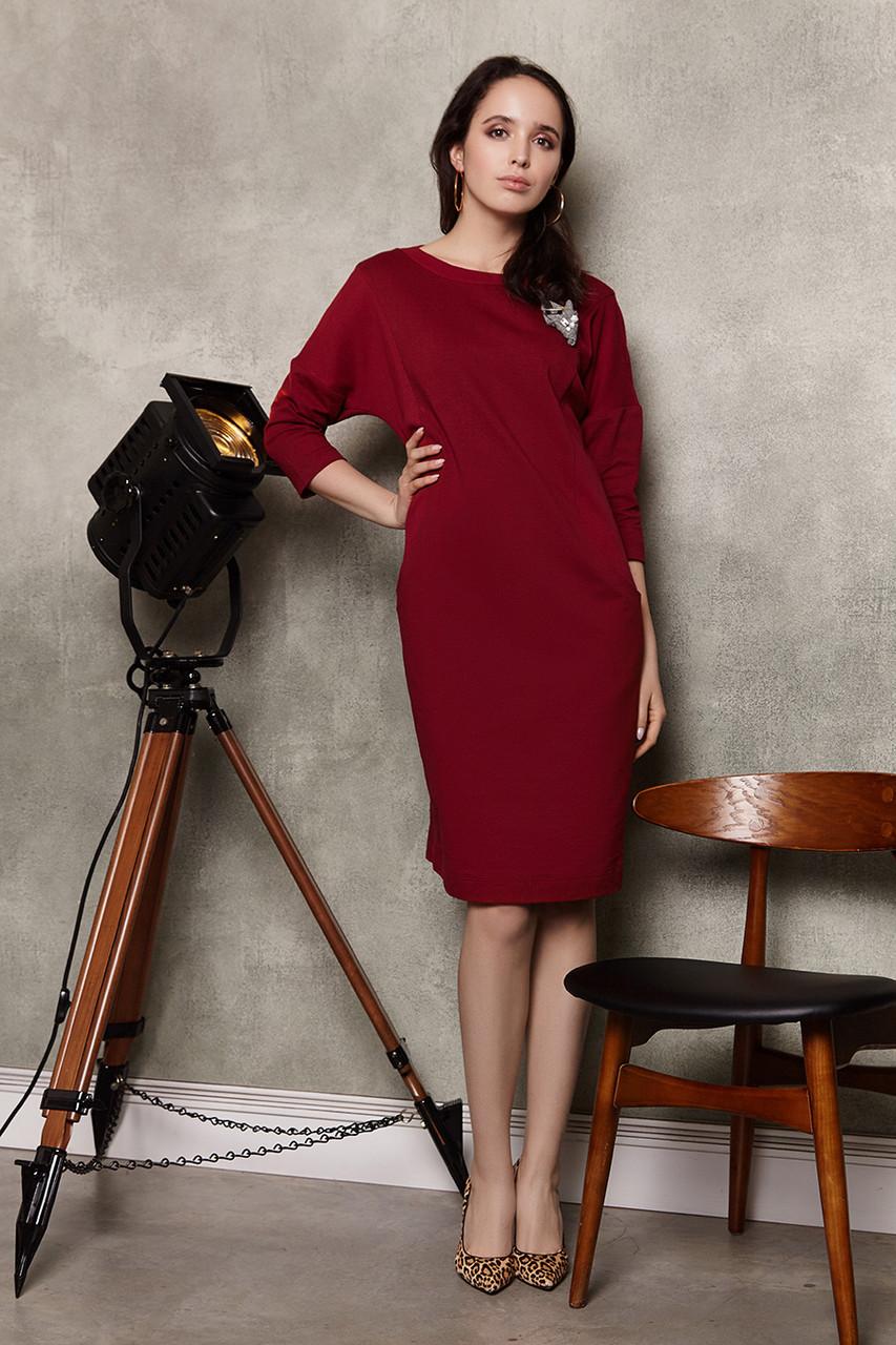 2281 платье Коди, вишня (S)