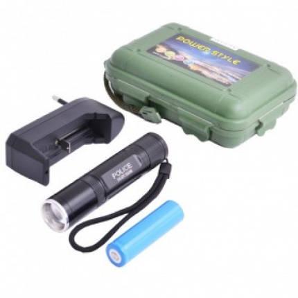 Ультрафиолетовый фонарь 2в1 для поисков янтаря Police 516 , фото 2