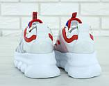 Кроссовки женские Versace Chain Reaction Sneakers в стиле версаче белые (Реплика ААА+), фото 4