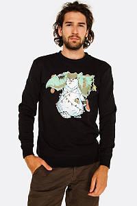Мужская кофта Свитшот House - Black Xmas Print Черный с принтом Медведя и Ёлки (толстовка, чоловіча кофта)