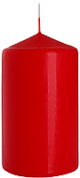 Декоративная свеча цилиндр sw70/120 красная BISPOL (12 см)