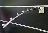 Флейта кронштейн дуга хром розміром 350мм в торговою економпанель