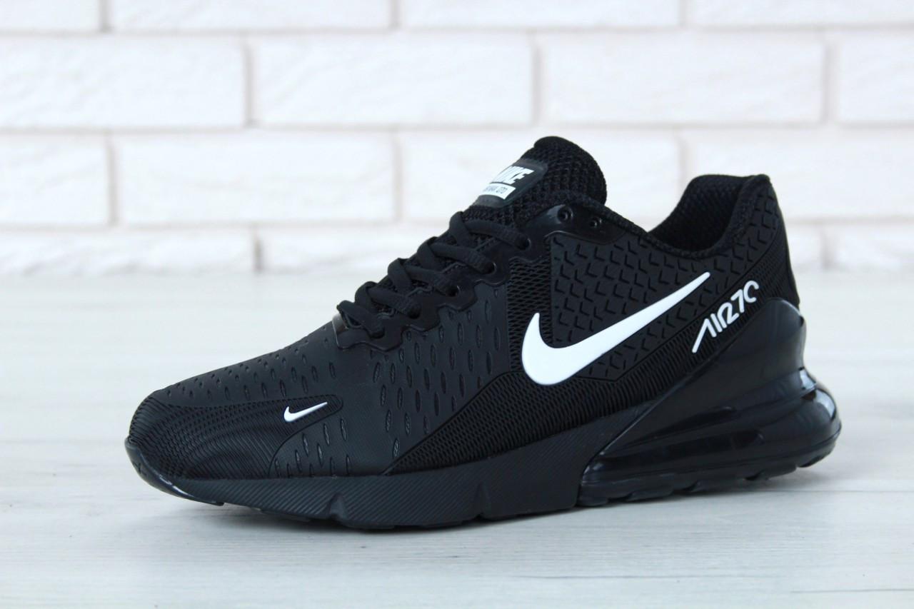 bd6494e4 Мужские кроссовки Nike Air Max 270 Total Black (в стиле Найк Аир Макс)  черные