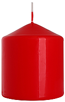 Декоративная свеча цилиндр sw80/90 красная BISPOL (9 см)