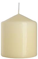 Декоративная свеча цилиндр sw80/90 кремовая BISPOL (9 см)