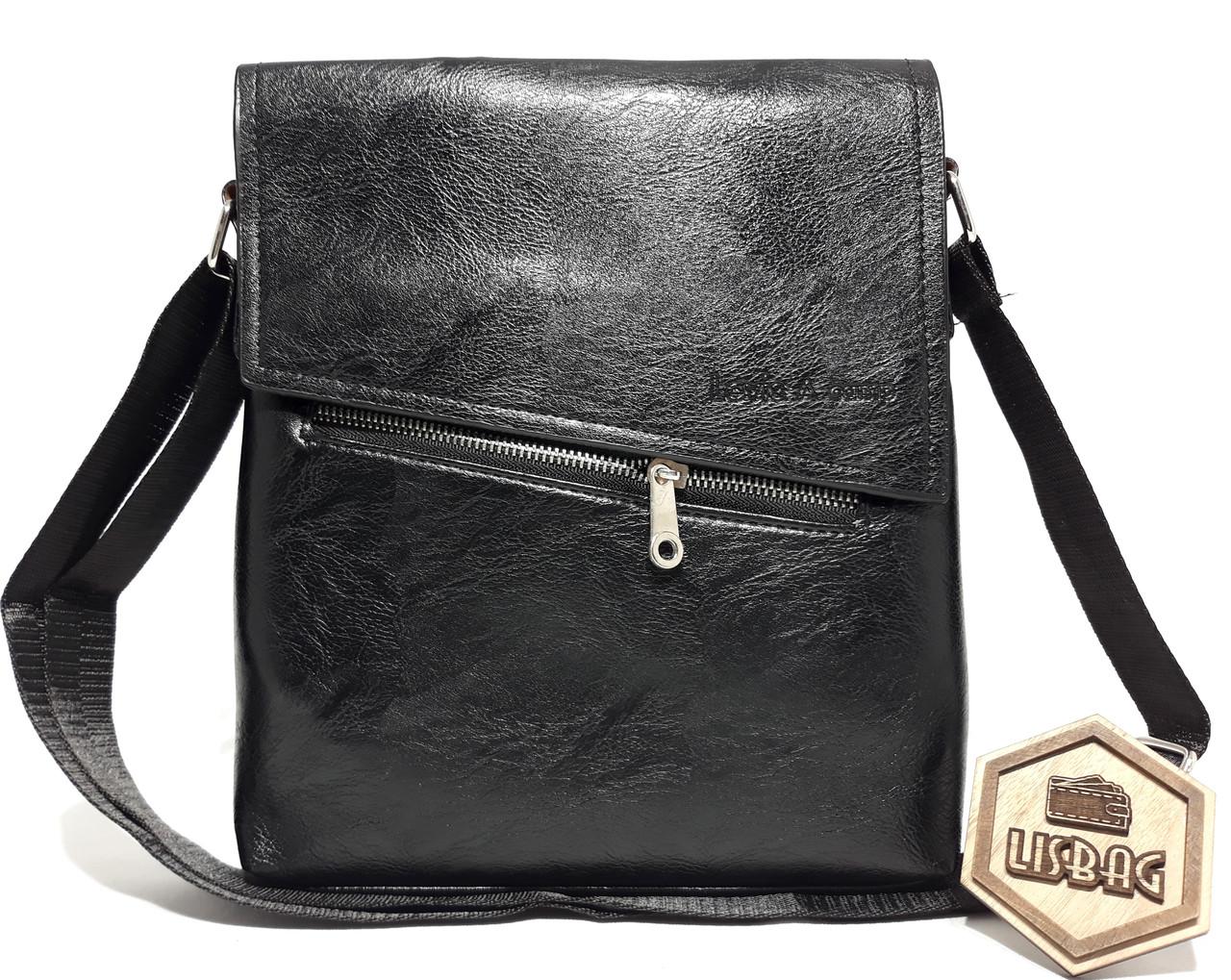 04b0f6f6b4e7 Черная мужская классическая деловая сумка планшетка/барсетка Levis ...