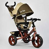 Велосипед 3-х колёс. 5700 - 3320 Best Trike (1) БЕЖЕВЫЙ,  ПОВОРОТНОЕ СИДЕНЬЕ, КОЛЕСА EVA (ПЕНА) переднее колесо d=28см. задние d=24см