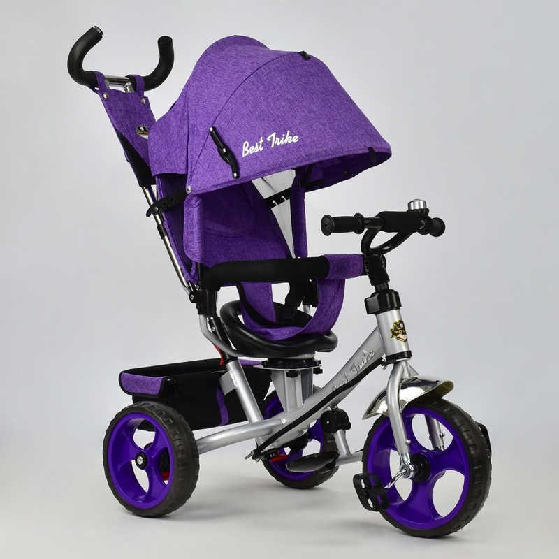 Велосипед 3-х кол. 5700 - 3870 (1) /СИРЕНИВЫЙ/ Best Trike ткань лён, поворотное сидение, колеса EVA  (пена)