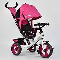 Велосипед 3-х кол. 5700 - 3980 (1) /РОЗОВЫЙ/ Best Trike поворотное сидение, колеса EVA  (пена)
