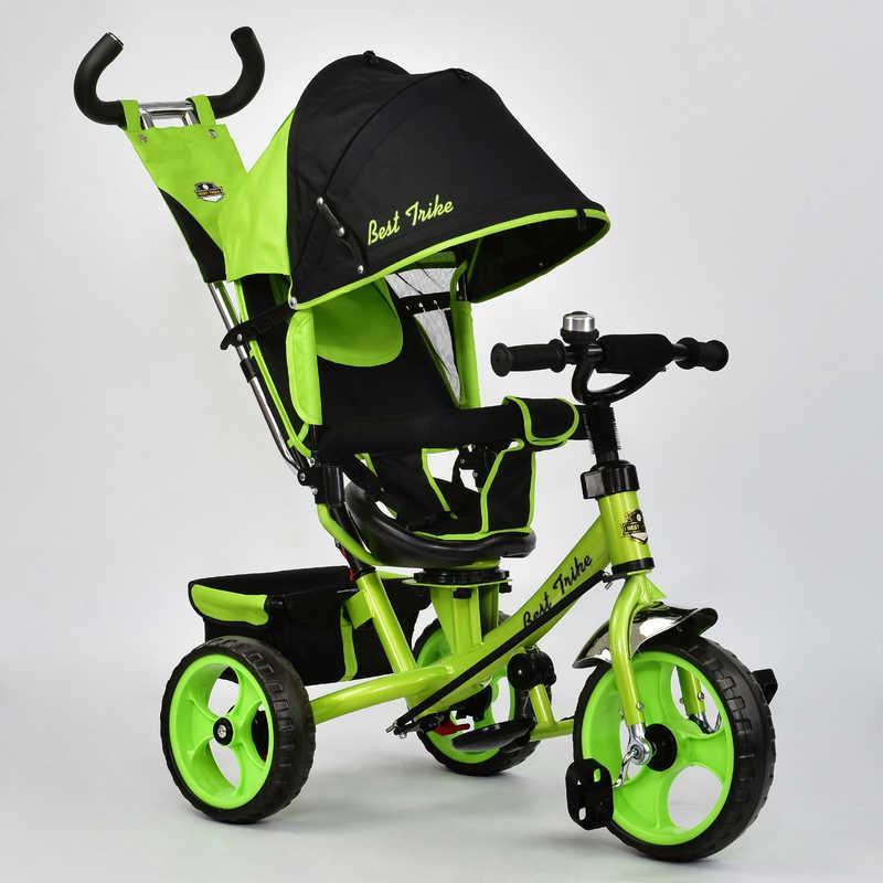 Велосипед 3-х колёс. 5700 - 4120 Best Trike (1) САЛАТОВЫЙ, ПОВОРОТНОЕ СИДЕНЬЕ, КОЛЕСА EVA (ПЕНА) переднее колесо d=28см. задние d=24см