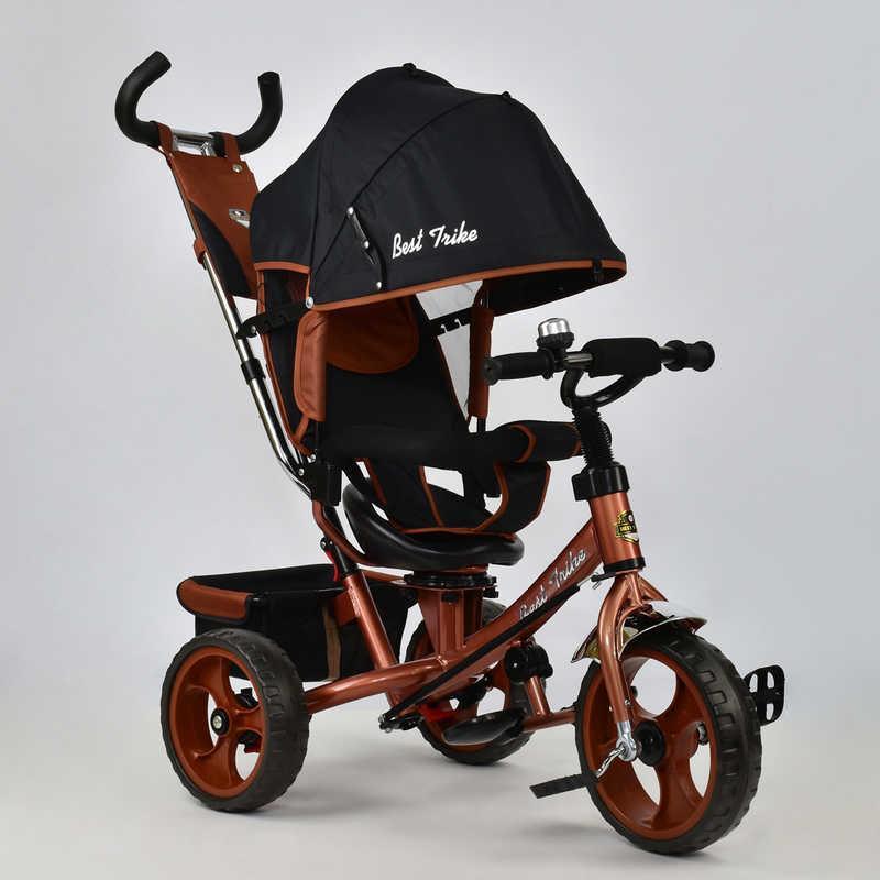 Велосипед 3-х кол. 5700 - 4340 (1) /БРОНЗОВЫЙ/ Best Trike поворотное сидение, колеса EVA  (пена)