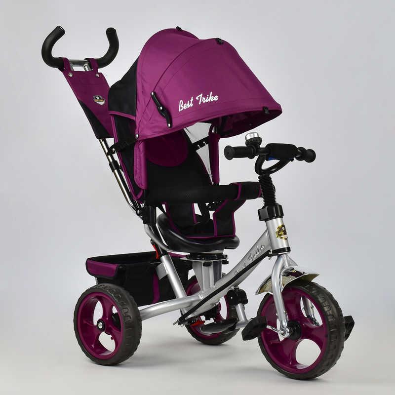 Велосипед 3-х кол. 5700 - 4450 (1) /ФИОЛЕТОВЫЙ/ Best Trike поворотное сидение, колеса EVA  (пена)