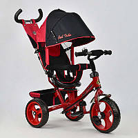 Велосипед 3-х кол. 5700 - 4670 (1) /КРАСНЫЙ/ Best Trike поворотное сидение, колеса EVA  (пена)