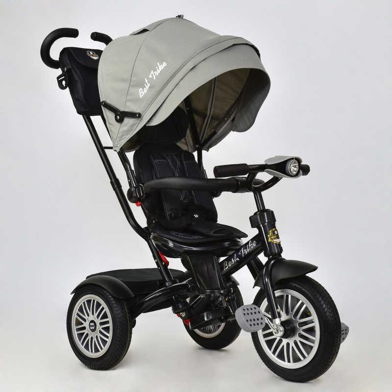 Велосипед 3-х кол. 6188 В - 8230 (1) /СЕРЫЙ/ Best Trike пов сидение, надув колеса, фара свет и звук